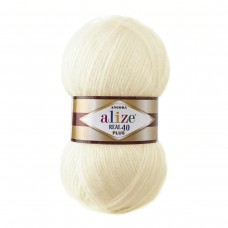 Alize Angora Real 40 Plus 01, уп.5шт